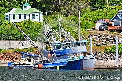 Alaska Hoonah Fishing Boats Editorial Photo