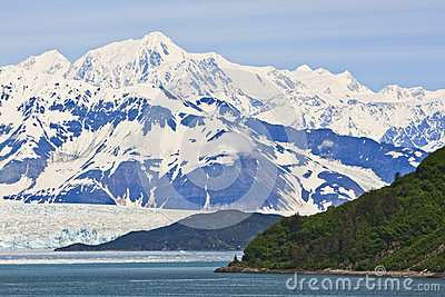 Alaska Hubbard Glacier and Mountain Vista