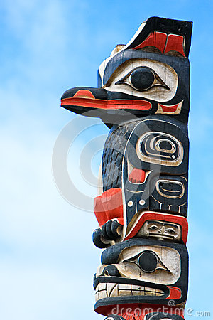 Free Alaska Huna Tlingit Totem Pole Art Stock Photos - 29266993