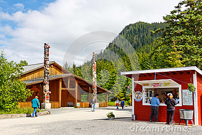Alaska Icy Strait Point Attractions Editorial Photo
