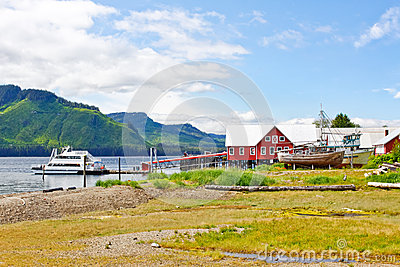 Alaska Icy Strait Point Cannery Landscape Editorial Photography