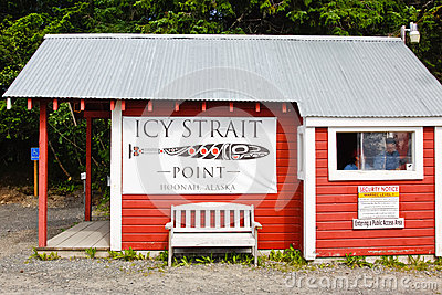 Alaska Icy Strait Point Security Checkpoint Editorial Stock Image