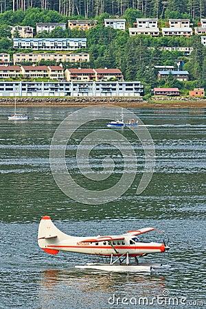 Alaska Juneau Waterfront Morning Rush Hour Editorial Image