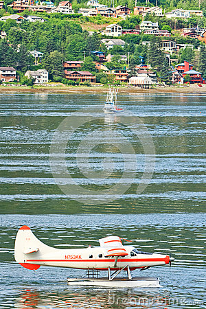 Alaska -  Juneau Waterfront Rush Hour Editorial Stock Image