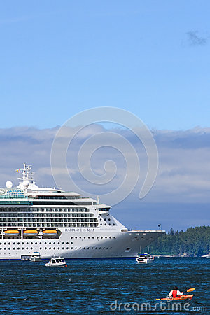 Alaska - Kayak, Fishing Boats, Cruise Ship 2 Editorial Photo