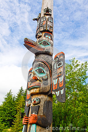 Free Alaska Ketchikan Tlingit Totem Pole Royalty Free Stock Photos - 29000038