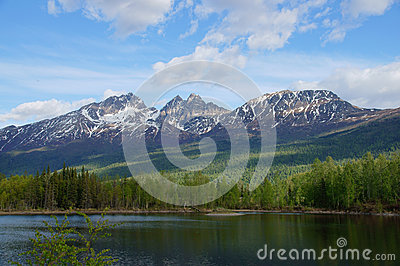 Alaska Mountains and Lake, Palmer Hays Flats