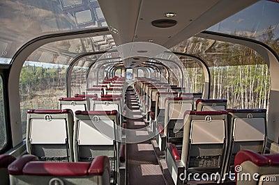 Alaska railroad passenger car