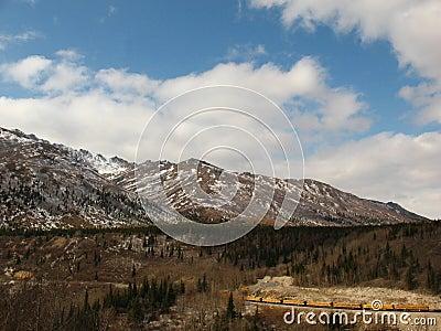 Alaska Railroad Train in Denali National Park