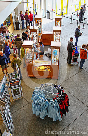 Alaska Sea Life Center Lobby and Gift Shop Editorial Image