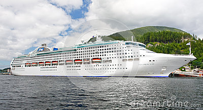 Alaska Sea Princess Cruise Ship in Ketchikan Editorial Stock Image