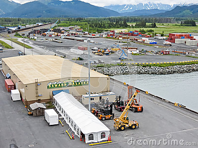 Alaska Seward Cruise Ship Terminal Editorial Photography