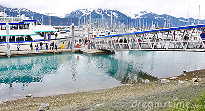 Alaska Seward Kenai Fjords Tours Gangway Editorial Stock Image