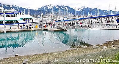 Alaska Seward Kenai Fjords Tours Gangway Editorial Stock Image