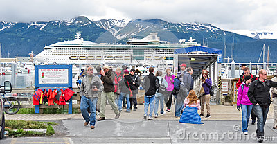 Alaska Seward Kenai Fjords Tours Passengers Editorial Stock Image