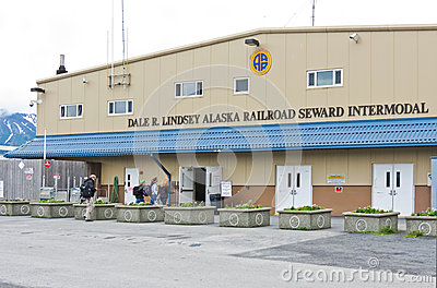 Alaska Seward Rail Cruise Ship Intermodal Center Editorial Photo