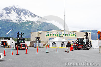 Alaska Seward statek wycieczkowy Terminal 2 Obraz Editorial