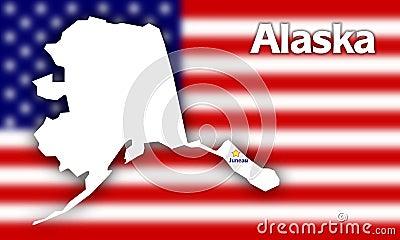 Alaska state contour
