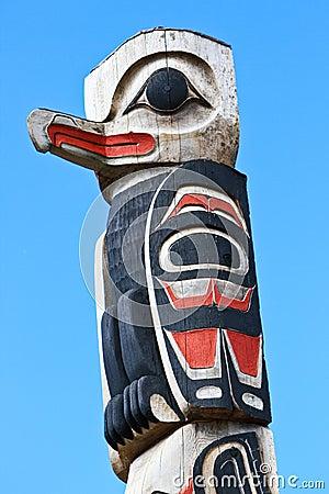 Alaska Tlingit Totem Pole Top