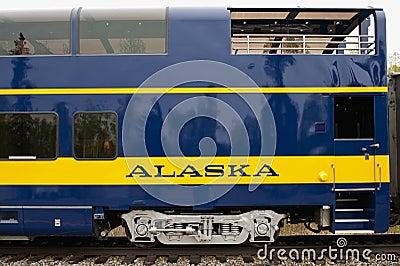 Alaska Train Car