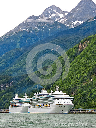Free Alaska - Two Cruise Ships In Skagway Royalty Free Stock Photos - 28868308
