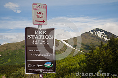 Alaskan parking fee Editorial Photo