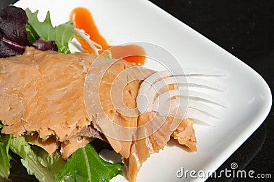 Alaskan smoked sockeye salmon
