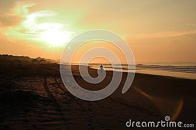 Alba della spiaggia, North Carolina