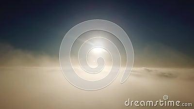 Alba sopra le nubi contaminazione di quadrotor archivi video