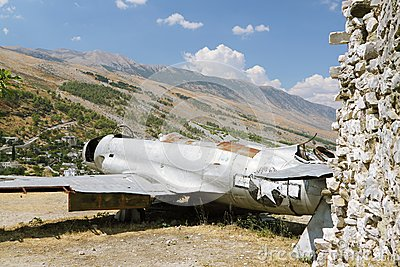 Albania, Gjirokaster, Reamins of USAF Aircraft
