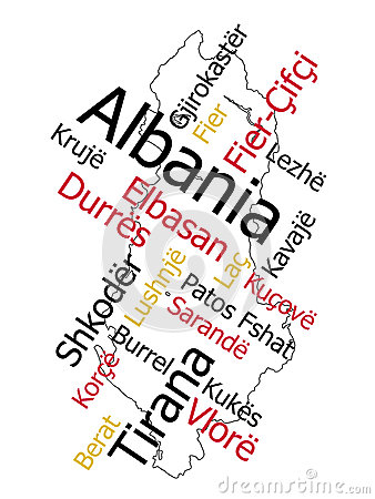 Albania map and cities
