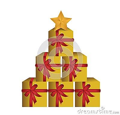 Albero dei contenitori di regalo