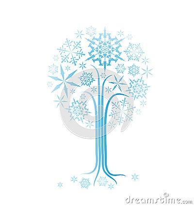 Albero dell estratto di inverno di natale