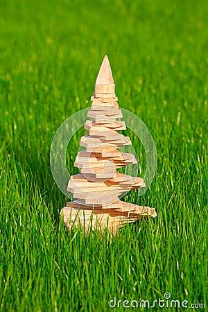 Albero di natale di legno con il giardino in una priorit - Il giardino di legno ...