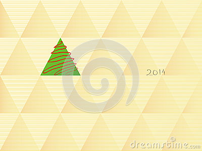 Albero di Natale nel retro stile