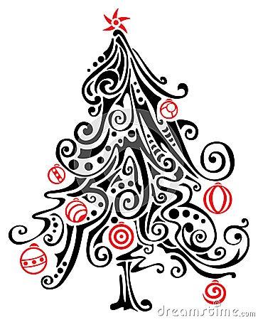 albero di natale stilizzato fotografia stock libera da