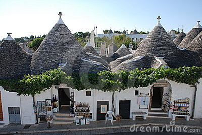 Alberobello Souvenir Shops, Puglia Editorial Photo