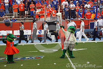 Albert the Alligator impersonating Mr. Two Bits Editorial Image