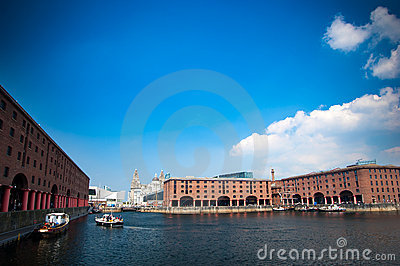 Albert Dock and Liver Buildings in Liverpool