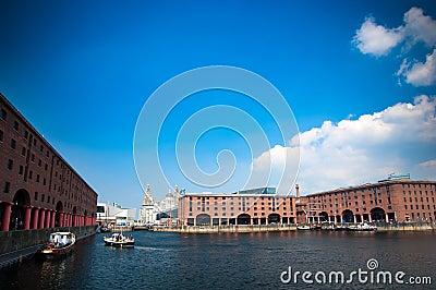 Albert Dock and Liver Buildings in Liverpool