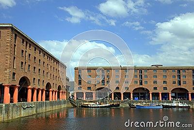 The Albert Dock in Liverpool