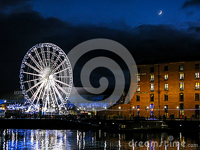 Albert Dock at night, Liverpool Editorial Image