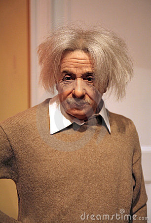 Albert einstein wax statue at the famous madame tussaud s museum in