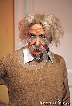 Albert Einstein at Madame Tussaud s Editorial Photography
