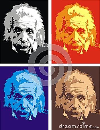 Albert Einstein - my original caricature Editorial Stock Image