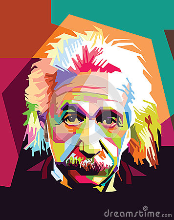 Free Albert Einstein Pop Art Royalty Free Stock Image - 51720486