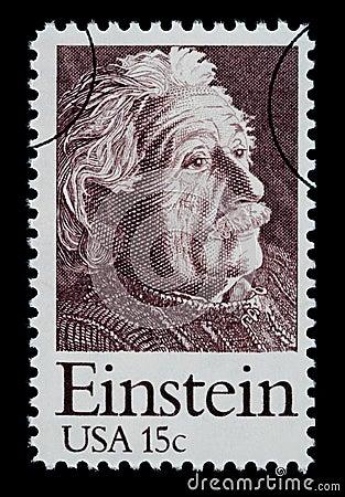 Albert Einstein Postage Stamp Editorial Photo