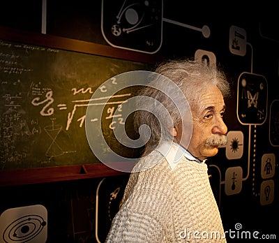 Albert Einstein Wax Figure Editorial Photography