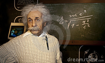 Albert Einstein Wax Figure Editorial Photo