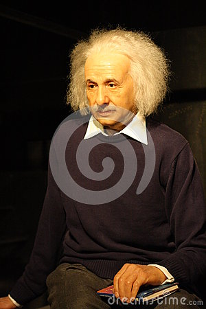 Albert Einstein wax figure Editorial Stock Photo